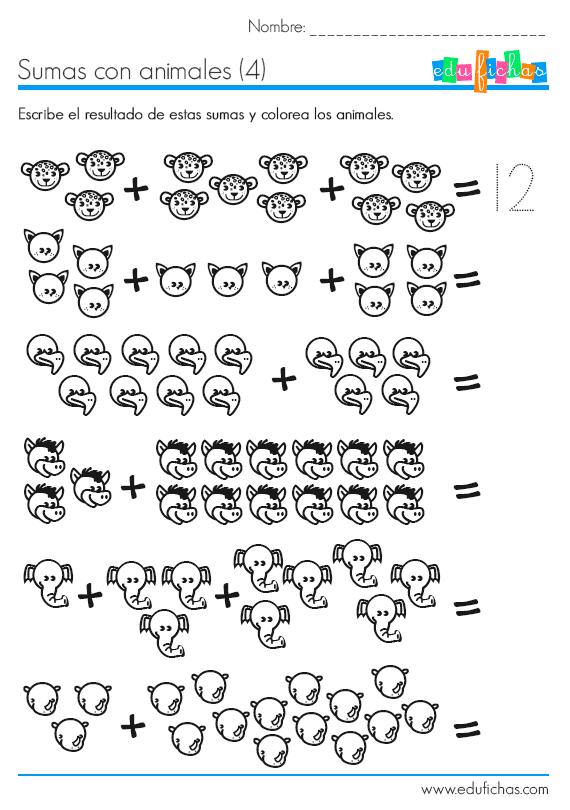 Sumas con resultados de dos cifras