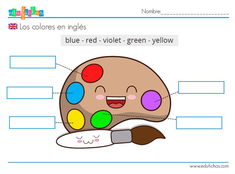Los Colores En Inglés Vocabulario Ejercicios Para Niños