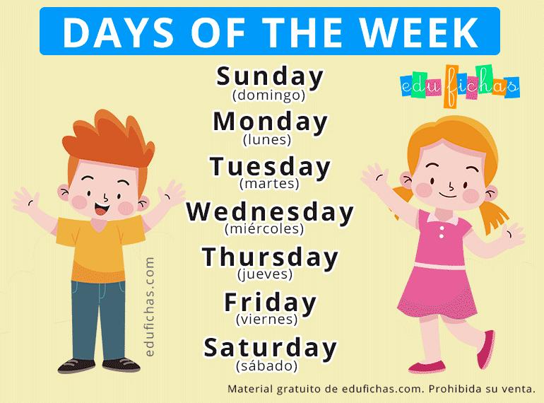 dias de la semana en ingles