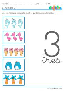 ejercicios con el numero tres
