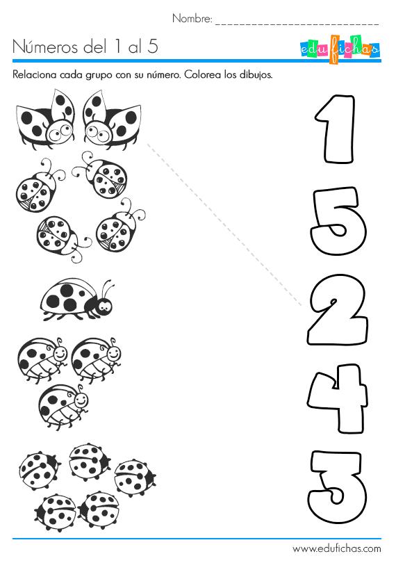 Fichas Para Aprender A Contar Y Sumar on Bug 2 Worksheet