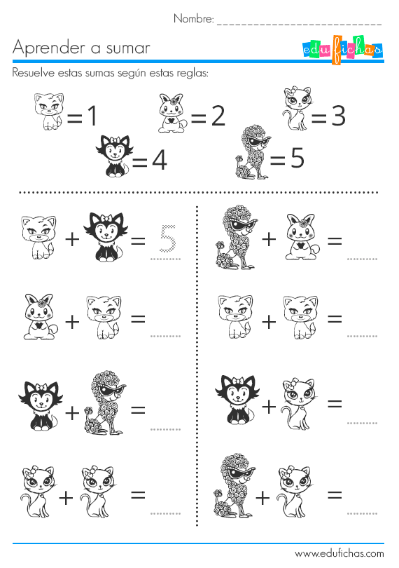 sumas de dibujos