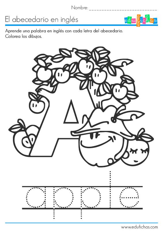 abecedario en ingles letra a