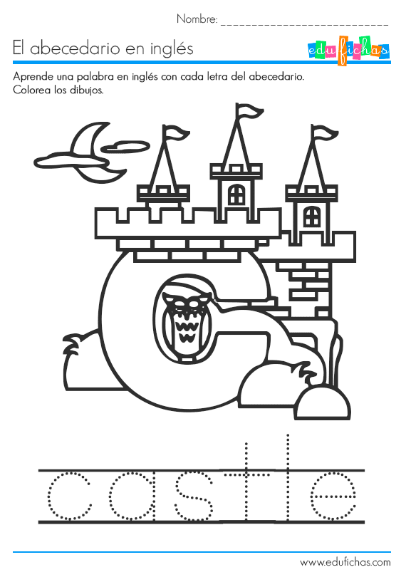 abecedario en ingles letra c