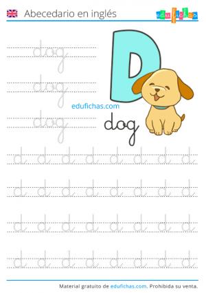 abecedario en inglés fichas