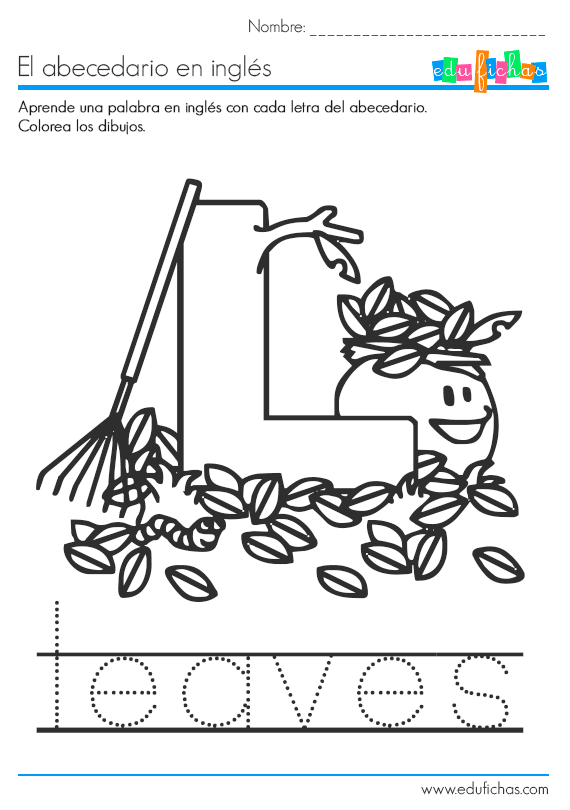 abecedario-ingles-l-leaves.png (570×810) | Ingles para niños ...