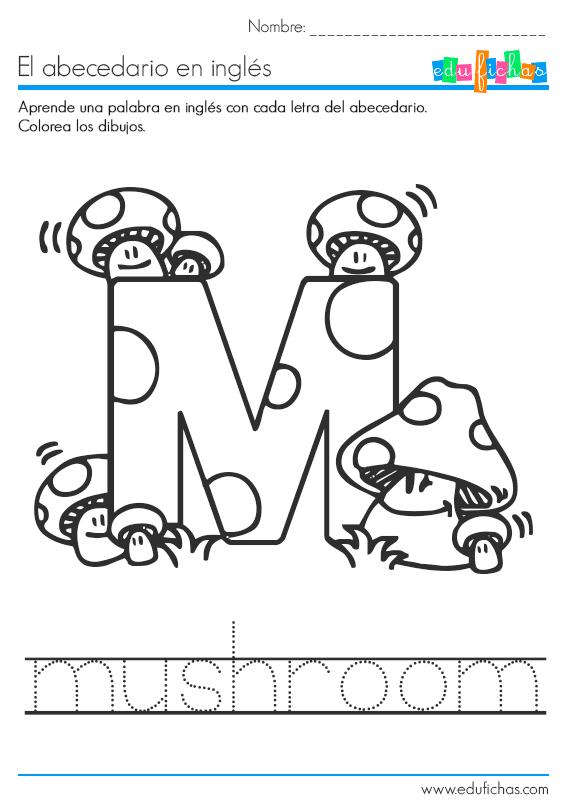 abecedario la letra m