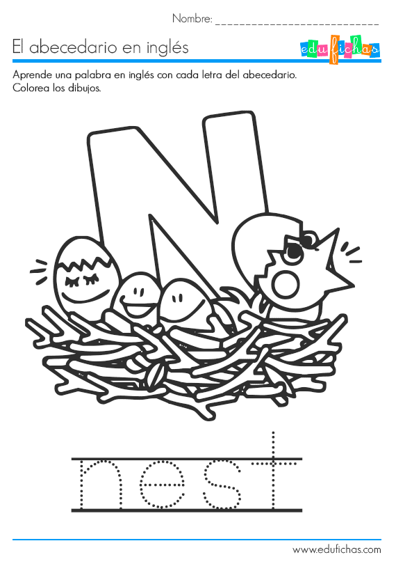 abecedario la letra n