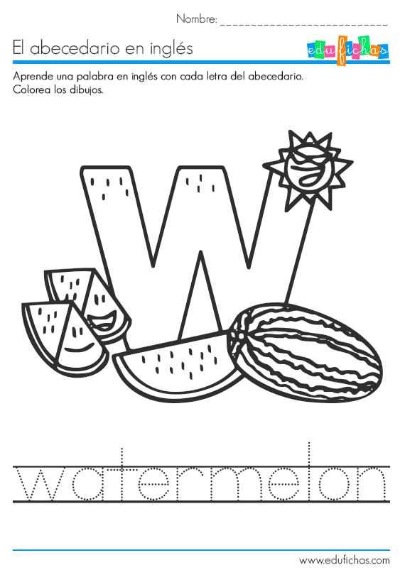 aprender la letra w