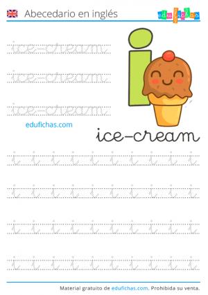 abecedario y vocabulario en inglés para niños