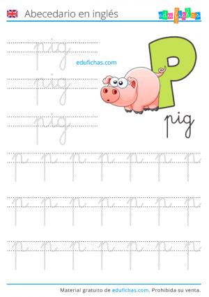 letras ingles pig