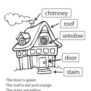 Aprender ingl s fichas de ingl s para ni os - Partes de la casa en ingles para ninos ...