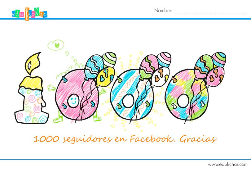 1000 seguidores, gracias