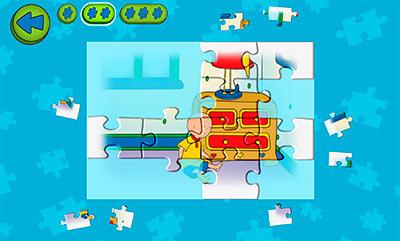 juego de puzles gratis caillou