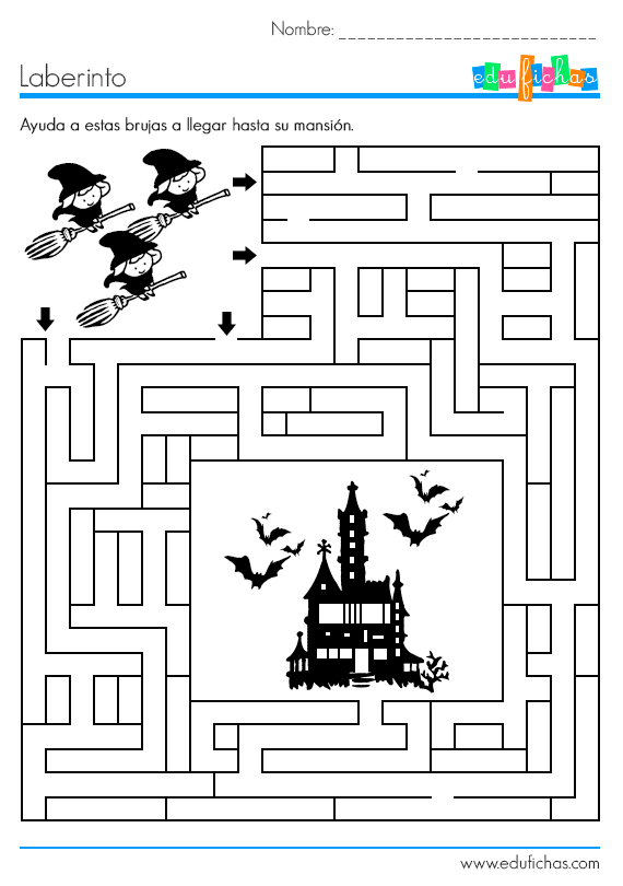 laberinto halloween brujas