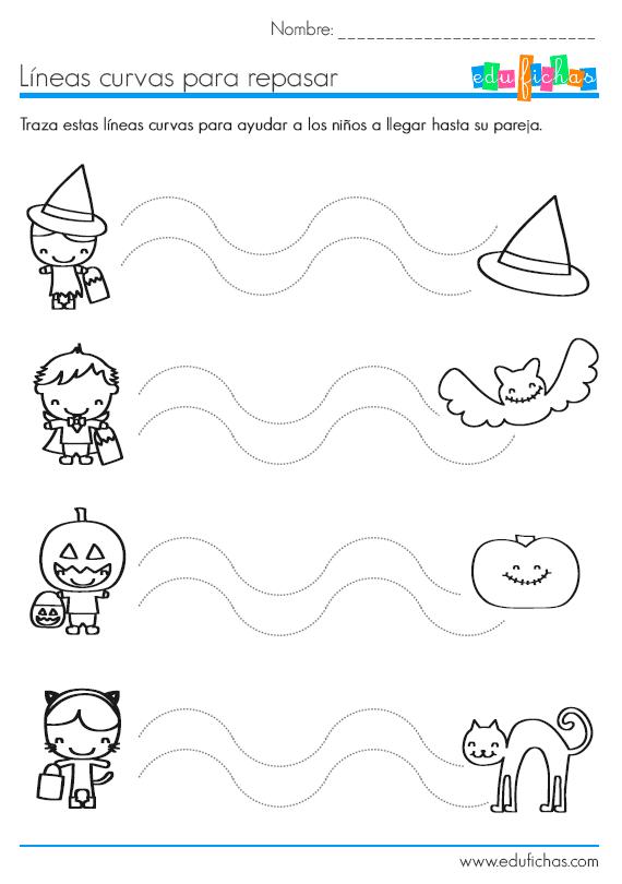 Líneas curvas de Halloween