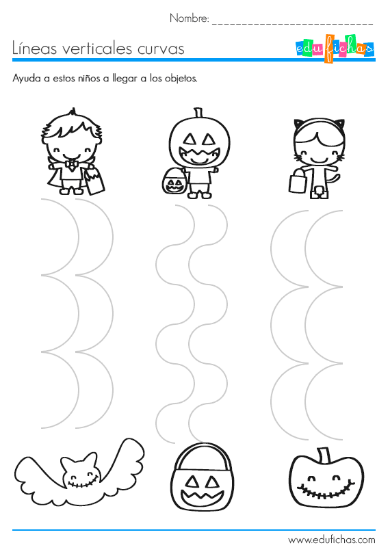 lineas curvas verticales halloween