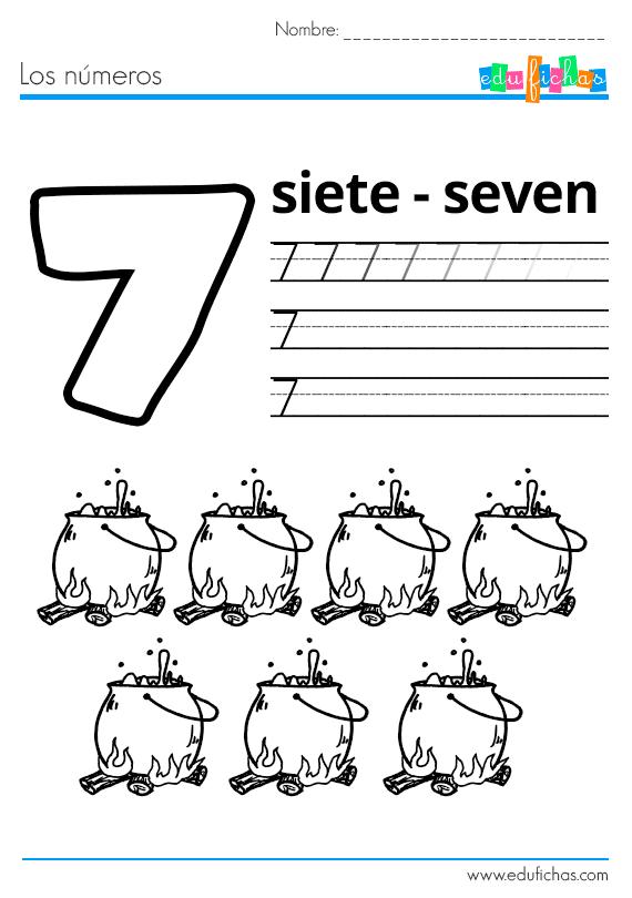 Fichas de Halloween para aprender los números del 1 al 10