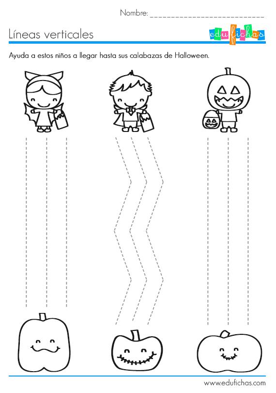 trazos verticales de Halloween