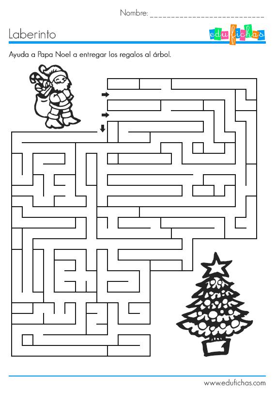 laberinto de navidad para imprimir