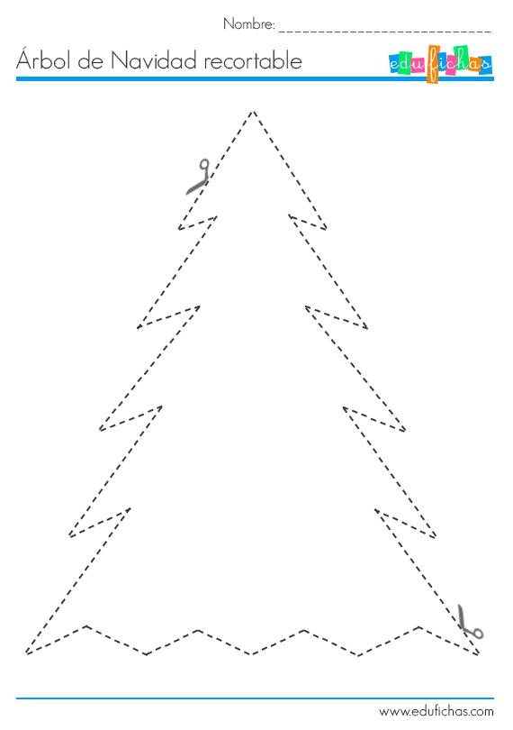 arbol de navidad recortable