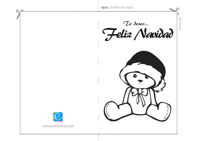 feliz navidad tarjeta con osito
