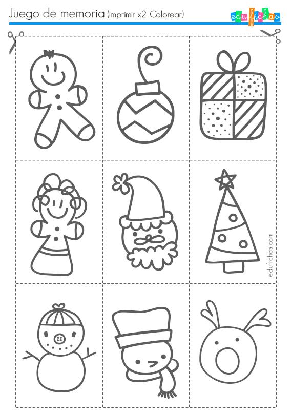 juego de memoria de navidad