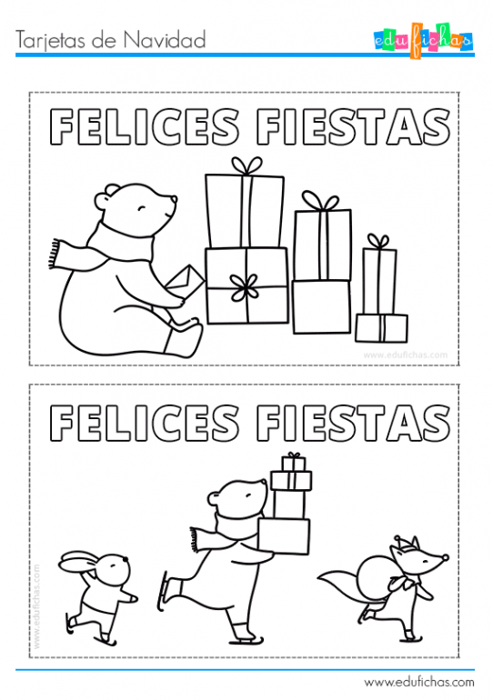 tarjetas de navidad para niños