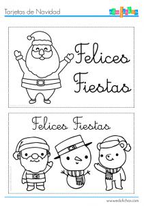 tarjetas navideñas para imprimir