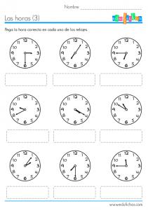 aprender-las-horas-ficha-pegatinas