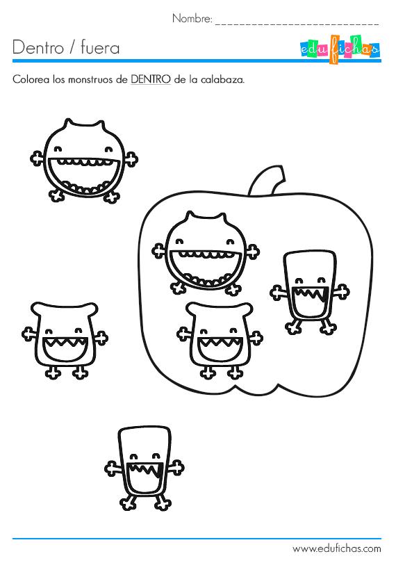 Cuadernillo de halloween infantil en pdf para imprimir for Fuera de aqui en ingles