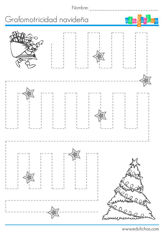 Fichas de Navidad para niños. Ejercicios para vacaciones de Navidad.
