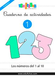 cuaderno de números del 1 al 10
