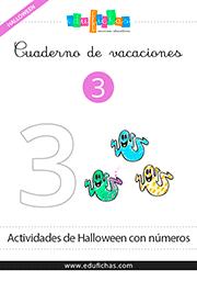 cuadernillo de los numeros de halloween