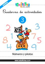 cuaderno de números y piratas