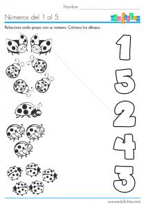 numeros del uno al cinco