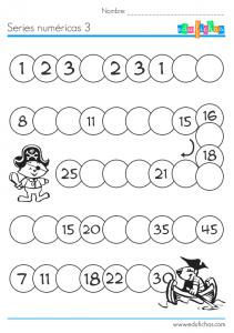 cartilla series numericas