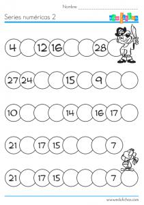 series numericas con dibujos