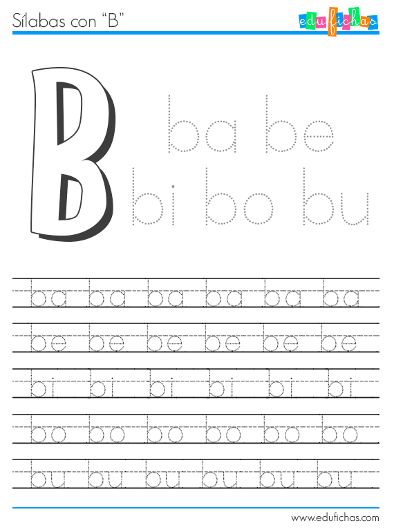 sílabas con b