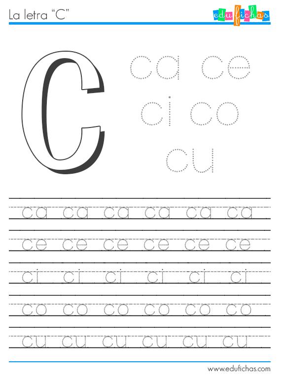 sílabas con c