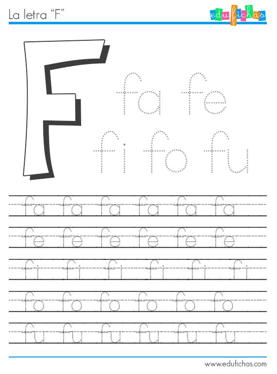 sílabas con F