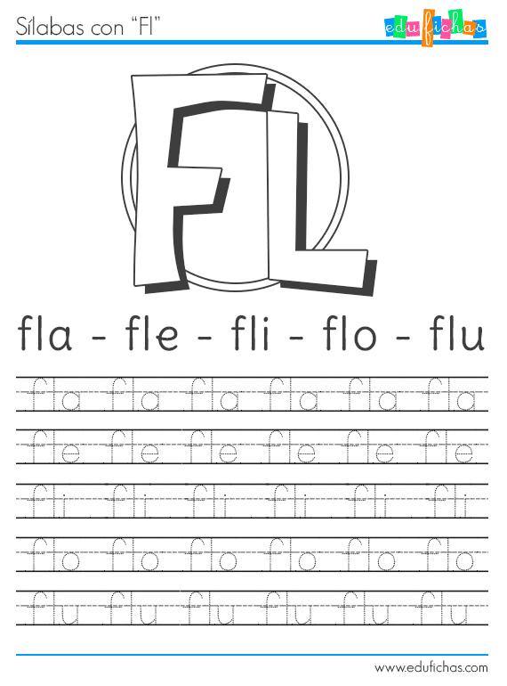 silabas con fl