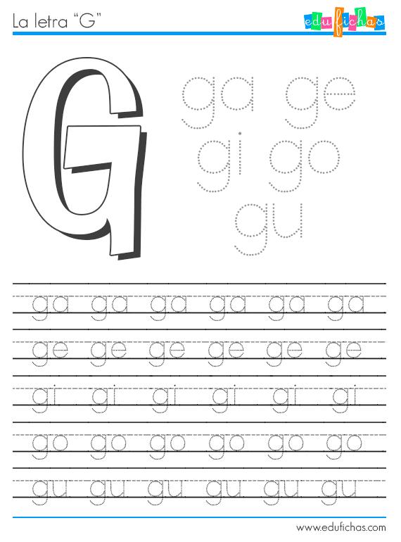 S labas con g gl y gr fichas para aprender las s labas for Cose con la g