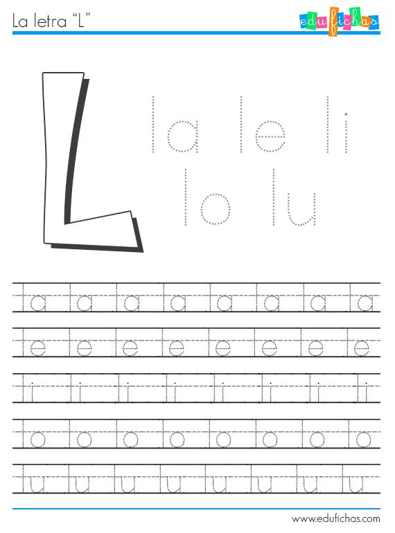 sílabas con l