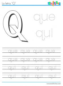 silabas con q