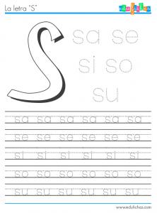 silabas con s