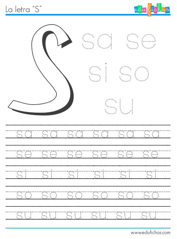 sílabas con s