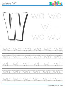 silabas con w