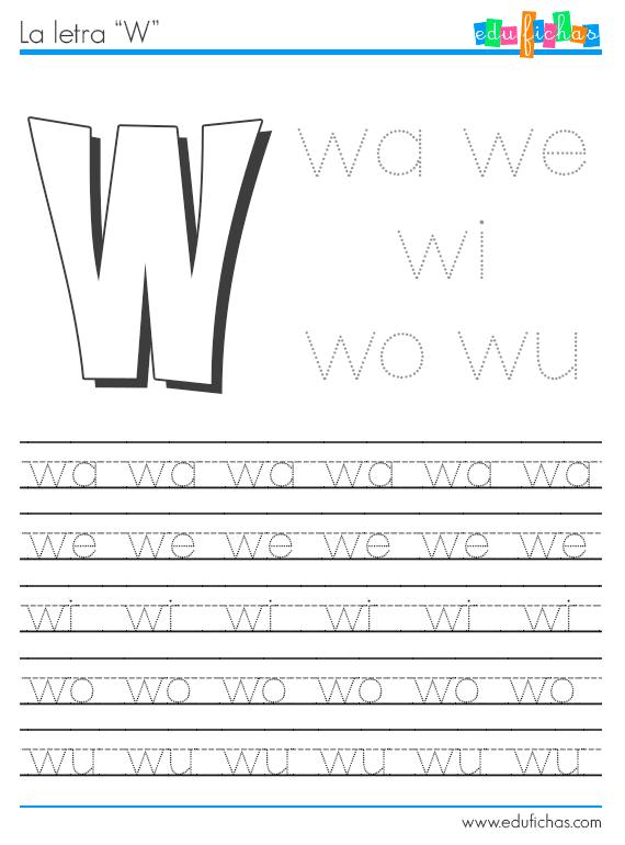 sílabas con w