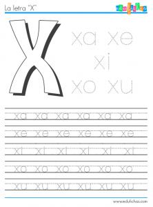 silabas con x